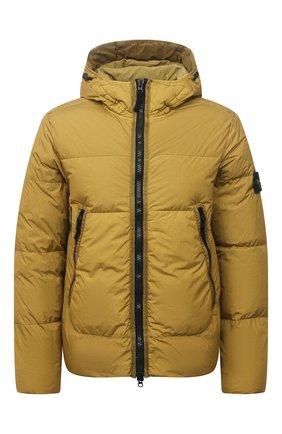 Мужская пуховая куртка STONE ISLAND желтого цвета, арт. 751540123   Фото 1