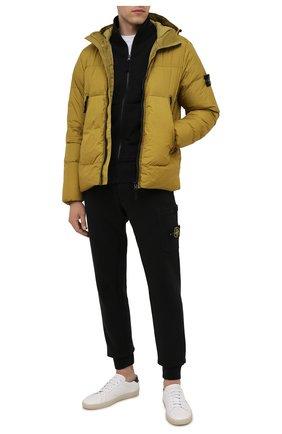 Мужская пуховая куртка STONE ISLAND желтого цвета, арт. 751540123   Фото 2