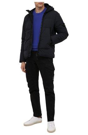 Мужская пуховая куртка STONE ISLAND темно-синего цвета, арт. 751540123 | Фото 2