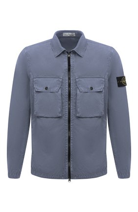 Мужская хлопковая куртка STONE ISLAND синего цвета, арт. 7515113WN | Фото 1