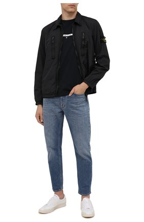 Мужская куртка STONE ISLAND черного цвета, арт. 751510523 | Фото 2