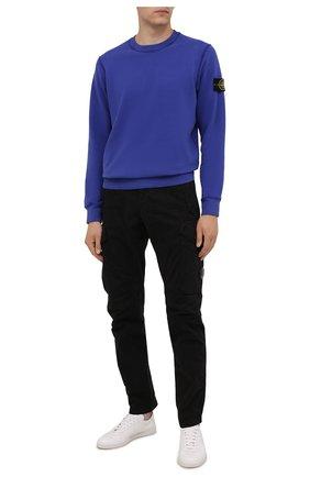 Мужской хлопковый свитшот STONE ISLAND синего цвета, арт. 751563020 | Фото 2
