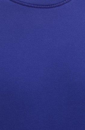 Мужской хлопковый свитшот STONE ISLAND синего цвета, арт. 751563020   Фото 5 (Рукава: Длинные; Принт: Без принта; Длина (для топов): Стандартные; Мужское Кросс-КТ: свитшот-одежда; Материал внешний: Хлопок; Стили: Кэжуэл)