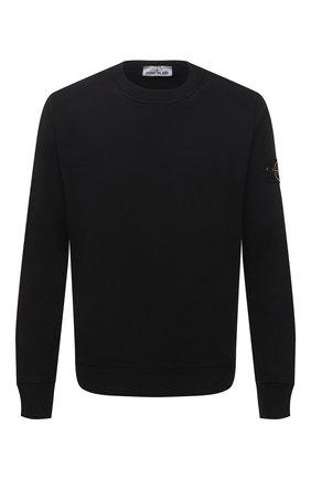 Мужской хлопковый свитшот STONE ISLAND черного цвета, арт. 751563020 | Фото 1