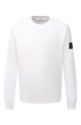 Мужской хлопковый свитшот STONE ISLAND белого цвета, арт. 751563020 | Фото 1