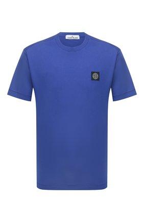 Мужская хлопковая футболка STONE ISLAND синего цвета, арт. 751524113 | Фото 1