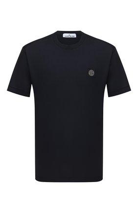 Мужская хлопковая футболка STONE ISLAND черного цвета, арт. 751524113 | Фото 1