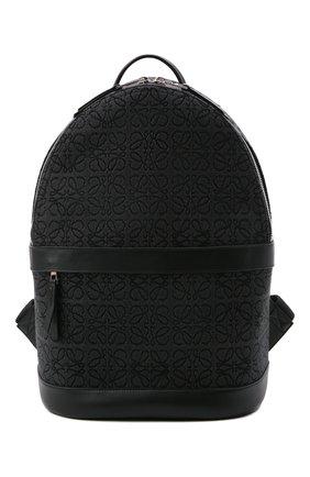 Мужской комбинированный рюкзак LOEWE черного цвета, арт. B664278X02   Фото 1