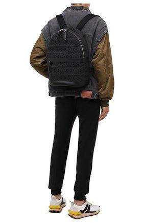 Мужской комбинированный рюкзак LOEWE черного цвета, арт. B664278X02   Фото 2