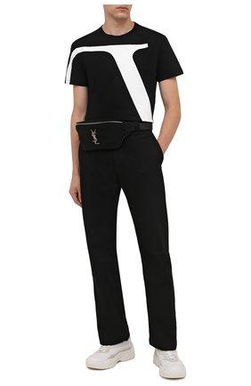Мужская хлопковая футболка VALENTINO черного цвета, арт. WV3MG10V7LR | Фото 2 (Длина (для топов): Стандартные; Материал внешний: Хлопок; Рукава: Короткие; Стили: Кэжуэл; Принт: С принтом)