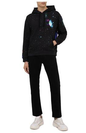 Мужской хлопковое худи VALENTINO черного цвета, арт. WV3MF02C7LD | Фото 2