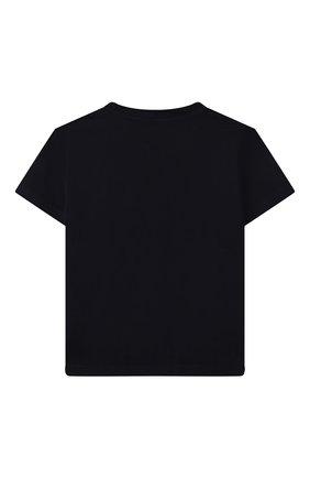 Детская хлопковая футболка MONCLER темно-синего цвета, арт. G2-954-8C746-00-83092/12-14A | Фото 2