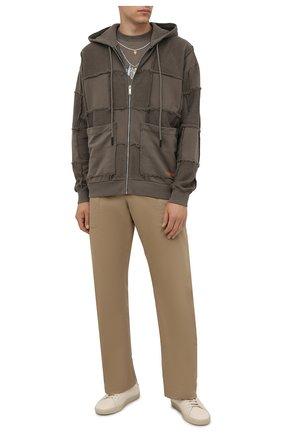 Мужской хлопковая толстовка MARCELO BURLON хаки цвета, арт. CMBE015F21FLE001 | Фото 2 (Материал внешний: Хлопок; Рукава: Длинные; Длина (для топов): Стандартные; Мужское Кросс-КТ: Толстовка-одежда; Стили: Кэжуэл)