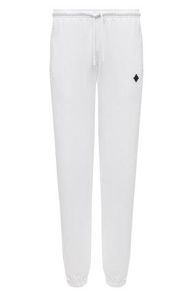 Мужские хлопковые джоггеры MARCELO BURLON белого цвета, арт. CMCH024F21FLE001 | Фото 1 (Материал внешний: Хлопок; Длина (брюки, джинсы): Стандартные; Мужское Кросс-КТ: Брюки-трикотаж; Силуэт М (брюки): Джоггеры; Кросс-КТ: Спорт; Стили: Спорт-шик)
