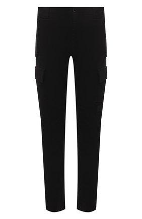 Мужские хлопковые брюки-карго C.P. COMPANY черного цвета, арт. 11CMPA190A-005529G | Фото 1 (Длина (брюки, джинсы): Стандартные; Материал внешний: Хлопок; Случай: Повседневный; Силуэт М (брюки): Карго; Стили: Кэжуэл)