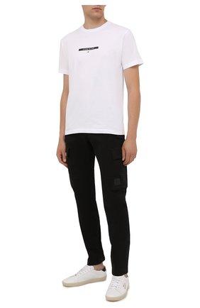 Мужские хлопковые брюки-карго C.P. COMPANY черного цвета, арт. 11CMPA190A-005529G | Фото 2 (Длина (брюки, джинсы): Стандартные; Материал внешний: Хлопок; Случай: Повседневный; Силуэт М (брюки): Карго; Стили: Кэжуэл)