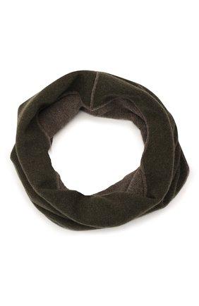 Мужской кашемировый шарф-снуд MOORER темно-зеленого цвета, арт. SCALDAC0LL0 BIC0L0RE-CWS/M0USC100001-TEPA177 | Фото 1