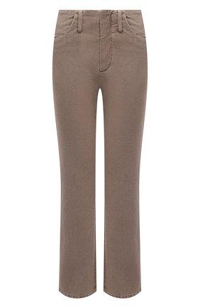 Женские джинсы BRUNELLO CUCINELLI темно-бежевого цвета, арт. MB030P5674 | Фото 1 (Материал внешний: Хлопок; Силуэт Ж (брюки и джинсы): Расклешенные; Стили: Кэжуэл; Кросс-КТ: Деним; Длина (брюки, джинсы): Стандартные)