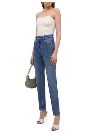 Женские джинсы LOEWE голубого цвета, арт. S359331XDJ | Фото 2
