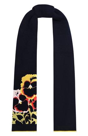 Женский хлопковый шарф LOEWE темно-синего цвета, арт. F811250X03 | Фото 1