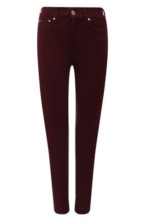 Женские джинсы POLO RALPH LAUREN темно-бордового цвета, арт. 211843860   Фото 1 (Материал внешний: Хлопок; Длина (брюки, джинсы): Стандартные; Силуэт Ж (брюки и джинсы): Узкие; Стили: Кэжуэл; Кросс-КТ: Деним)