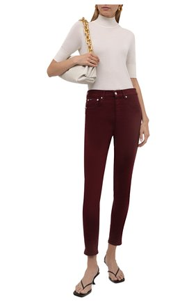 Женские джинсы POLO RALPH LAUREN темно-бордового цвета, арт. 211843860   Фото 2 (Материал внешний: Хлопок; Длина (брюки, джинсы): Стандартные; Силуэт Ж (брюки и джинсы): Узкие; Стили: Кэжуэл; Кросс-КТ: Деним)