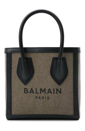 Женская сумка-шопер b-army BALMAIN хаки цвета, арт. WN1FA660/TCPY   Фото 1