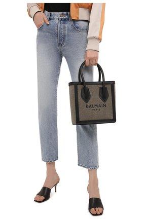 Женская сумка-шопер b-army BALMAIN хаки цвета, арт. WN1FA660/TCPY   Фото 2