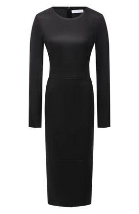 Женское кожаное платье DROME черного цвета, арт. DPDA586VP/D074P   Фото 1