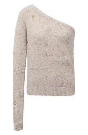 Женский пуловер из шерсти и вискозы HELMUT LANG светло-бежевого цвета, арт. L04HW722 | Фото 1