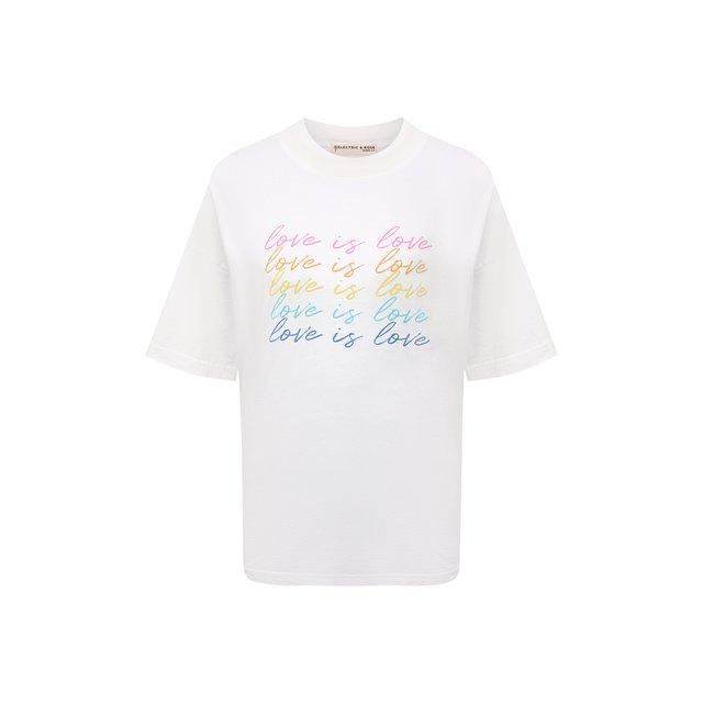 Хлопковая футболка Electric&Rose