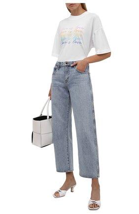 Женская хлопковая футболка ELECTRIC&ROSE белого цвета, арт. LFTP24-L0VE IS L0VE | Фото 2