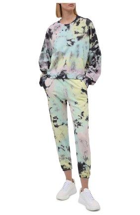 Женский хлопковый свитшот ELECTRIC&ROSE разноцветного цвета, арт. LFCV08-ATLANTIS | Фото 2 (Рукава: Длинные; Материал внешний: Хлопок; Длина (для топов): Стандартные; Женское Кросс-КТ: Свитшот-одежда, Свитшот-спорт; Стили: Спорт-шик)