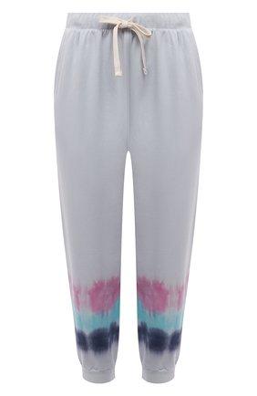 Женские хлопковые джоггеры ELECTRIC&ROSE светло-голубого цвета, арт. LFBT14-S0NIC | Фото 1 (Материал внешний: Хлопок; Женское Кросс-КТ: Джоггеры - брюки, Брюки-спорт; Стили: Спорт-шик; Силуэт Ж (брюки и джинсы): Джоггеры; Длина (брюки, джинсы): Укороченные)
