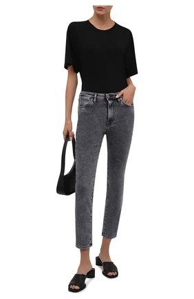 Женские джинсы 3X1 серого цвета, арт. W3XCS1096/MACHINE   Фото 2
