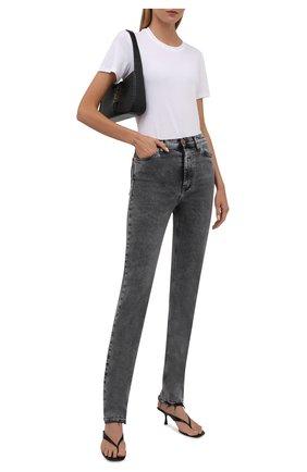 Женские джинсы 3X1 серого цвета, арт. WP0221092/MACHINE   Фото 2