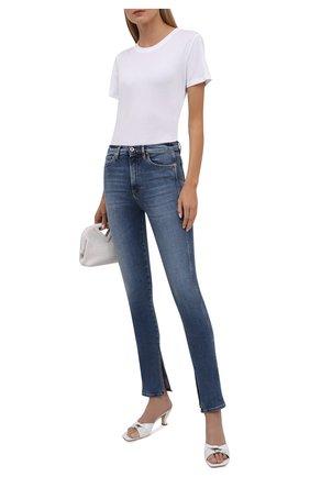 Женские джинсы 3X1 синего цвета, арт. WP0291093/MIDLAND   Фото 2