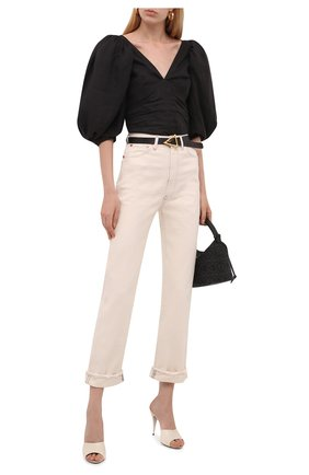 Женские джинсы 3X1 кремвого цвета, арт. WP040952/CHALK DUST   Фото 2