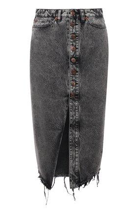 Женская джинсовая юбка 3X1 серого цвета, арт. WS0161100/MACHINE   Фото 1
