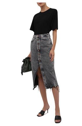 Женская джинсовая юбка 3X1 серого цвета, арт. WS0161100/MACHINE   Фото 2