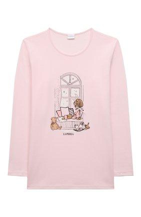 Детская хлопковая пижама LA PERLA светло-розового цвета, арт. 55121/8A-14A   Фото 2