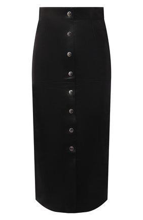 Женская кожаная юбка ISABEL MARANT черного цвета, арт. JU1321-21A002I/BLEH0R | Фото 1