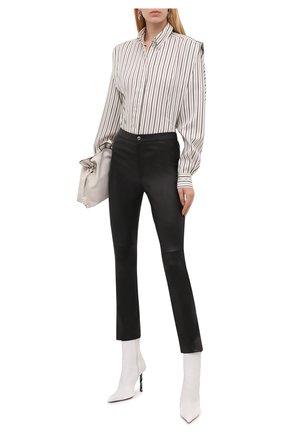 Женские кожаные брюки ISABEL MARANT черного цвета, арт. PA2013-21A005I/AJULIK0 | Фото 2