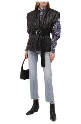 Женский кожаный жилет ISABEL MARANT черного цвета, арт. VE1415-21A002I/AJALI | Фото 2
