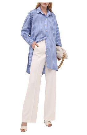 Женская шелковая рубашка ISABEL MARANT светло-голубого цвета, арт. CH0776-21A018I/SACALI | Фото 2