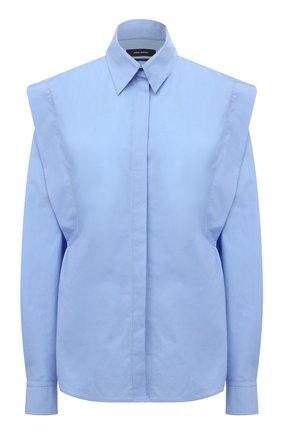 Женская хлопковая рубашка ISABEL MARANT голубого цвета, арт. CH0782-21A019I/RALKI | Фото 1