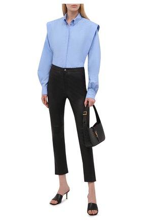 Женская хлопковая рубашка ISABEL MARANT голубого цвета, арт. CH0782-21A019I/RALKI | Фото 2