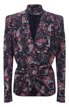 Женская шелковая блузка ISABEL MARANT темно-синего цвета, арт. HT2154-21A021I/BAT0ZIA | Фото 1
