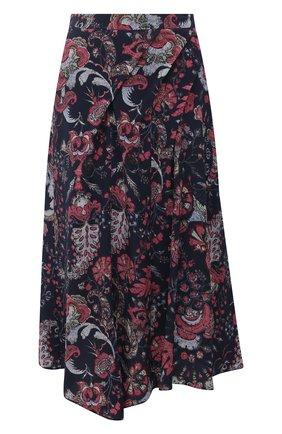 Женская шелковая юбка ISABEL MARANT темно-синего цвета, арт. JU0832-21A021I/CACIA | Фото 1