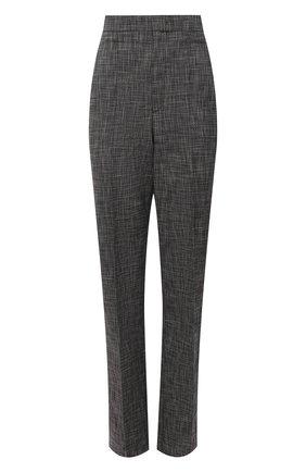 Женские хлопковые брюки ISABEL MARANT темно-серого цвета, арт. PA1990-21A012I/LIR0KIA | Фото 1